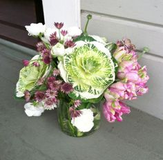 Country Cabbage Centerpiece