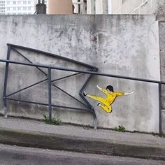 3d Street Art, Murals Street Art, Amazing Street Art, Street Art Graffiti, Street Artists, Graffiti Artists, Performance Artistique, Urbane Kunst, French Street