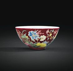 A SMALL FAMILLE ROSE-DECORATED RUBY-GROUND BOWL, CHINA, YONGZHENG SIX-CHARACTER MARK AND PERIOD (1723-1735)