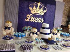 Resultado de imagem para ursinho principe festa azul marinho