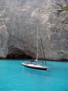 Sailing at Zakynthos Island, Ionian Sea, Greece. Oh The Places You'll Go, Places To Travel, Places To Visit, Dream Vacations, Vacation Spots, Zakynthos Greece, Greek Islands, Monuments, Land Scape