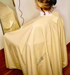 Full chair coverage cape Vegan Leather Hair Cape hair | Etsy Pastel Yellow, Barber Shop, Vegan Leather, Lilac, Salons, Hot Pink, Hair Cuts, This Or That Questions, Hair Styles