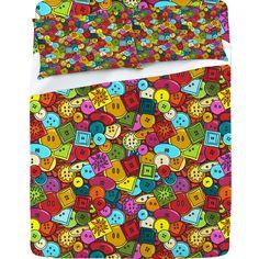 Sharon Turner 'Graffiti Buttons' Sheet Set