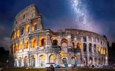 Rome's Colosseum, originally named the Flavian Amphitheater because it was constructed by emperors of the Flavian dynasty, was completed in 82 A.D. and still holds the Guinness World Record for the world's largest amphitheater.