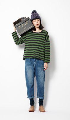 2012.10.29 | 30DAYS COORDINATE | niko and... magazine [ニコ アンド マガジン] Simple Outfits, Chic Outfits, Fashion Outfits, Niko And, Mori Fashion, Japan Fashion, Alternative Fashion, Autumn Winter Fashion, Korean Fashion