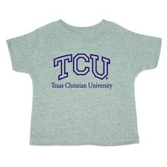 Texas Christian Horned Frogs NCAA Grey Infant T-shirt (6M)