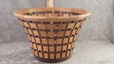 Decorative wood bowl, Wood bowl, Handmade wood basket, Wooden fruit basket, Unique gift basket, Open segmented design by TimsWoodturnings on Etsy