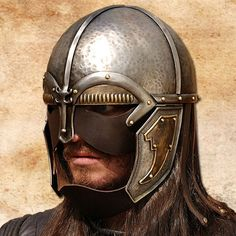 Noble Warrior Helmet, integrated Leather mask.