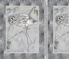 Owl Placemats fabric by miart on Spoonflower - custom fabric