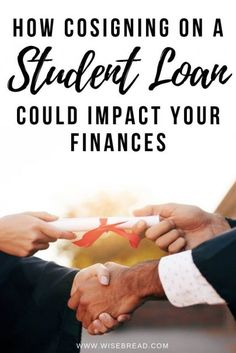 How Cosigning On a Student Loan Could Impact Your Finances : Cosigning on a student loan can be a huge risk. Here's everything you need to know how cosigning on your students college loan can impact your personal finances. Federal Student Loans, Paying Off Student Loans, Student Loan Debt, College Loans, Online College, Student Loan Repayment, Online Degree Programs, Student Loan Forgiveness, Planning Budget