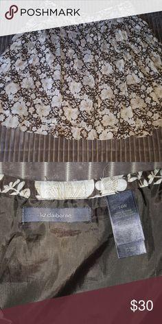 Women's Skirt Liz Claiborne  Sz 14W Cotton & Silk Flowy Skirt Liz Claiborne Skirts A-Line or Full