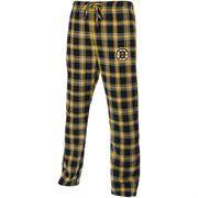 Mens Boston Bruins Black/Gold Acclaim Flannel Plaid Pants