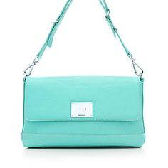 Nanette shoulder bag in Tiffany Blue grain leather. More colors available.