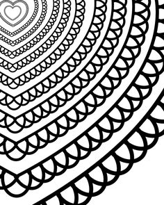 Free Printable Heart Coloring Page for Adults