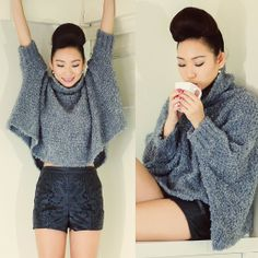 Zara Sweater, River Island Shorts