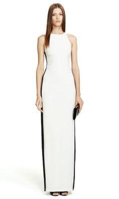 Stretch-Silk Georgeanna Dress - Black Label  Evening Dresses - RalphLauren.com
