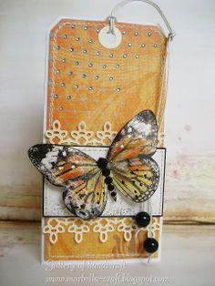 Gallery of handicrafts: Tag z motylem