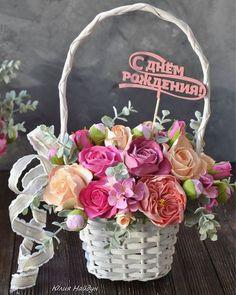 Купить или заказать Корзина  средняя 37 см с цветами из полимерной глины в интернет-магазине на Ярмарке Мастеров. цветы из полимерной глины в корзине. высота 37 см, диаметр 24 см). Корзина очень качественные, прочный бамбук и лоза. Цветы легкие и очень прочные, абсолютно безопасны для транспортировки, не боятся удара и падения. Цветы сделаны вручную из полимерной и глины Деко. Цветы, которые не завянут никогда. Пересылка в любую точку России. Самовывоз или курьер по Москве.