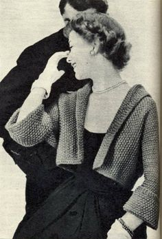 Short Jacket Vintage Knitting Pattern Retro di ToppyToppyKnits