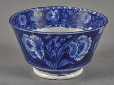 Historical blue Staffordshire Eagle on Urn