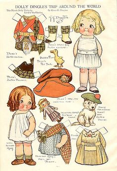 Dolly Dingle * 1500 paper dolls at International Paper Doll Society by artist Arielle Gabriel ArtrA QuanYin5 Linked In QuanYin5 Twitter *