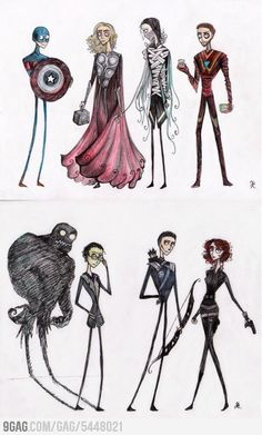If Tim Burton made Avangers