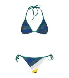 FENDI Striped Triangle Bikini. #fendi #cloth #