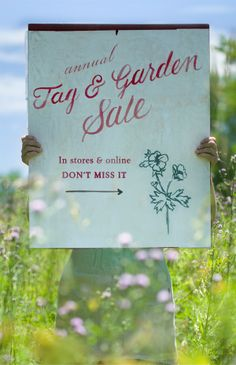 Find up to 75% off across the store at our annual Tag and Garden Sale at terrain.