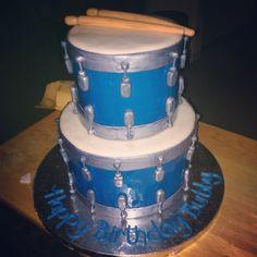 Drum Birthday Cakes, Grad Parties, Birthday Parties, Drum Cake, Cupcake Cakes, Cupcakes, Snare Drum, Unique Cakes, Childrens Party