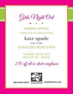 4446793004df Kade Spade Sunglasses Trunk Show on Thursday May 24th in Cincinnati at Madeira  Optical Optician