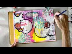 Mixed Media Art Journal Page by Rae Missigman - YouTube Beautiful organic design, great video to watch.