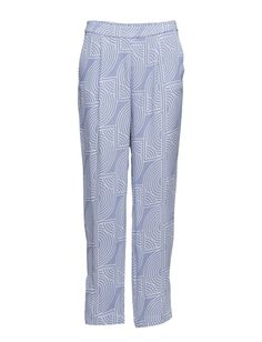 DAY - Rhyss All-over graphic pattern Concealed closure Side pockets Slight pleating Relaxed fit Chic Elegant Modern Pants Trousers Graphic Patterns, Trousers, Pajama Pants, Closure, Pockets, Elegant, Chic, Day, Fitness
