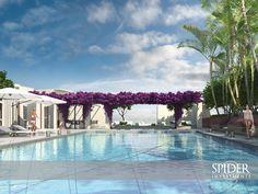 Desde instalaciones de arte contemporáneo originales hasta una gran piscina rodeada de hermosos jardines y espectaculares vistas sobre el mar y la bahía, Marea captura la fusión única del glamour de Miami entre el arte y el diseño.