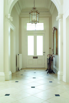 Natural Stone Flooring and Fireplace specialists with studios in London, Kent, Surrey, Buckinghamshire, Cheshire and West Yorkshire. Choose your natural stone floors and fireplaces from our premium quality stone range sourced from around the world. Floor Design, Tile Design, Tiles London, Hall Flooring, Tiled Hallway, New Bathroom Ideas, Natural Stone Flooring, Entrance Hall, Kitchen Reno