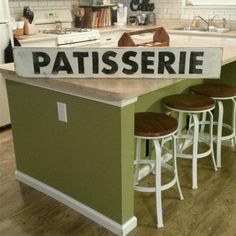 Patisserie SIgn Kitchen Sign Hand Painted SIgn by RagdollAnnies