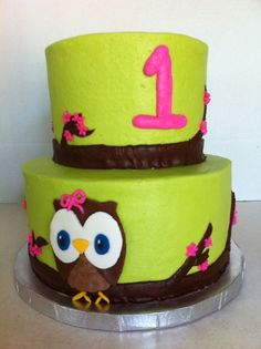 Look Whoo's Turning 1 By Cindy619 on CakeCentral.com