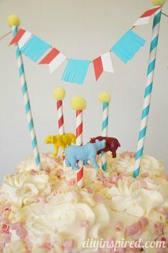 Circus Carousel Cupcake Topper