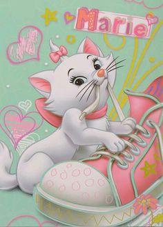 Disney movies in art … marie, Disney, cat, the aristocats Disney Pixar, Disney Cats, Disney Cartoons, Baby Disney, Disney Love, Disney Magic, Disney Characters, Gatos Disney, Image Minions