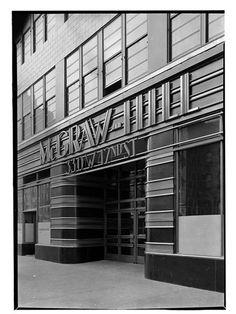 McGraw Hill Building. Entrance Detail, Photo By Samuel H. Gottscho,  October. Mcgraw HillStreamline Moderne42nd StreetOctober ...