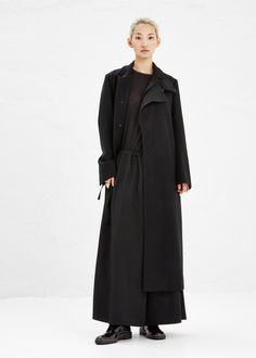 Yohji Yamamoto Long Collared Coat (Black)