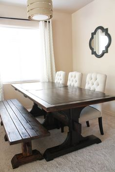 Ana White | Triple Pedestal Farmhouse Table - DIY Projects