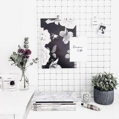 Grid x prints = great deco !