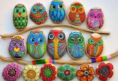 Painted Owl Rocks Lots of Inspiration