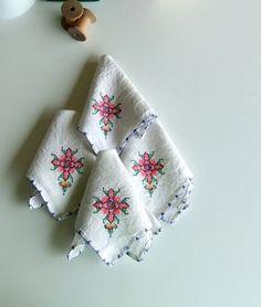 hand-stitched napkins
