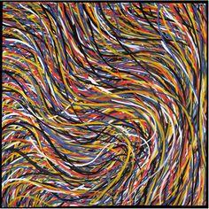 Sol LeWitt, Wavy Brushstrokes on ArtStack #sol-lewitt #art