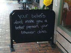 Belief vs. behavior