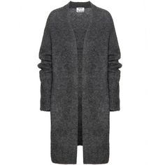 Acne Studios - Raya wool and mohair-blend cardigan -   This cosy piece is wonderfully oversized. The ribbed effect on the sleeves and hemline is offset by the supreme smoothness of the neckline and shoulders. seen @ www.mytheresa.com