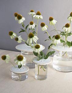 ceramicist Victoria Shaheen for Culture Lab Detroit, will be on sale at Nora.  Flower Arrangement by David Stark for Gardenista