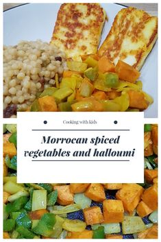 Morrocan spiced vegetables with halloumi makes a delicious, light meal