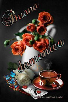 Good Morning Beautiful Flowers, Italian Memes, Italian Phrases, Good Mood, Happy Sunday, Lily, Cocktail, Leonardo, 3